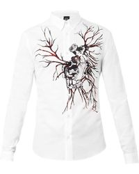McQ by Alexander McQueen Motor Heartprint Cotton Shirt - Lyst