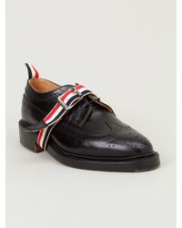 Thom Browne Buckled Front Strap Brogues - Lyst
