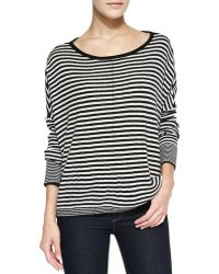 Alice + Olivia Alice Olivia Boxy Ribbed Striped Sweater - Lyst