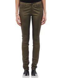 J Brand Leather Stacked Super Skinny Leggings - Lyst
