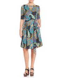Etro | Printed Jersey Wrap Dress | Lyst