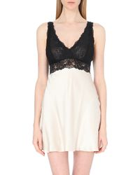 Nk Imode Silk-satin and Lace Chemise - Lyst