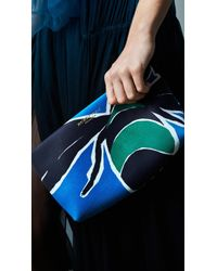Burberry Book Cover Print Leather Pouch - Lyst