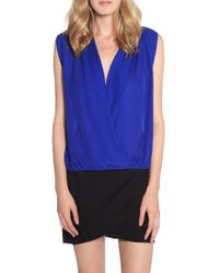 Mason by Michelle Mason Wrap Blouse - Lyst