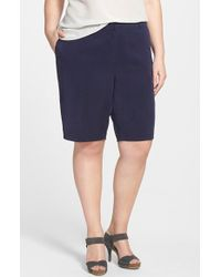 Eileen Fisher Tapered Shorts - Lyst