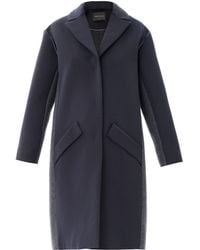 Cedric Charlier Colour-Blocked Wool-Blend Coat - Lyst