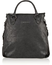 Balmain Studded Brushed-leather Tote - Lyst