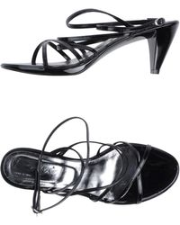 Riviera Black Sandals - Lyst