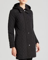 Calvin Klein Coat - Hooded Quilted - Lyst