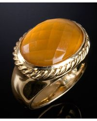 David Yurman Preowned Citrine Signature Oval Ring - Lyst
