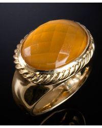 David Yurman Preowned Citrine Signature Oval Ring - Lyst
