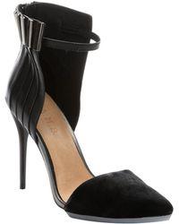 L.A.M.B. Black Leather 'Tomas' Ankle Strap Pumps - Lyst