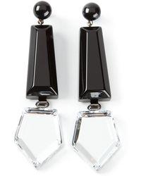 Emporio Armani Black Geometric Earrings - Lyst