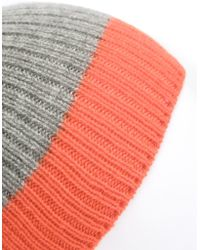 Chinti & Parker - Colour Block Ribbed Beanie Hat - Lyst