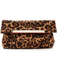 Joie Helena Haircalf Clutch  Leopard - Lyst