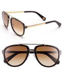 Marc Jacobs Women'S 56Mm Aviator Sunglasses - Yellow Gold/ Brown - Lyst