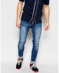 WÅVEN - Jeans Erling Spray On Super Skinny Fit Soft Blue - Lyst
