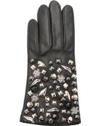 Diane von Furstenberg - Studded Leather Gloves - Lyst