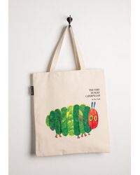Out Of Print - Bookshelf Bandit Tote In Caterpillar - Lyst