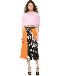 Giulietta - Tea Length Paillette Skirt - Orange - Lyst