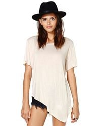 Nasty Gal Playing Favorites Tee Nude - Lyst