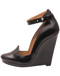 Christophe Lemaire Black Sculpted Wedges - Lyst