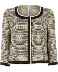 Max Mara Studio Boucle Striped Jacket - Lyst