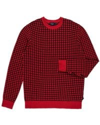 Paul Smith Red Square Tuck-Stitch Cotton Sweater - Lyst