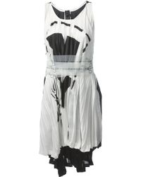 Bernhard Willhelm Pleated Scissor Print Dress - Lyst