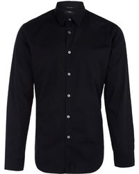 Paul Smith Black Cotton Poplin Shirt - Lyst