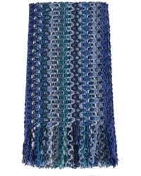 Missoni Open Weave Mulicolor Pattern Scarf - Lyst