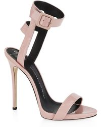 Giuseppe Zanotti Strappy Patent Leather Sandals - Lyst