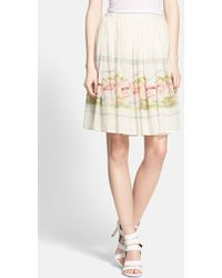 Joie 'Sacha' Cotton & Silk Skirt - Lyst