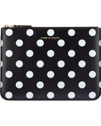Comme Des Garçons Polka-dot Embossed Pouch - Lyst