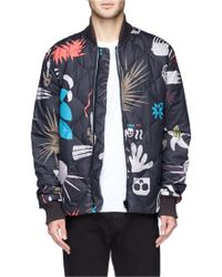 Paul Smith Tribal Print Quilted Down Bomber Jacket - Lyst