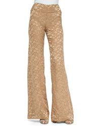 Donna Karan New York Devore High-Waist Wide-Leg Pants - Lyst