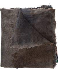 Avant Toi - Frayed Edge Printed Scarf - Lyst