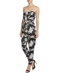 Lipsy | Printed Bandeau Jumpsuit | Lyst