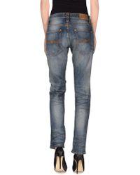 Nudie Jeans Denim Trousers blue - Lyst