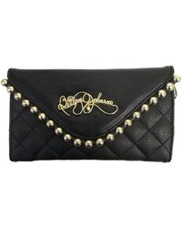 Betsey Johnson Ball And Chain Quilted Clutch - Lyst