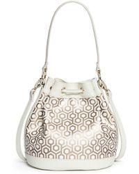 Mischa - 'mini Bucket Bag' In Classic Hexagon Print - Lyst