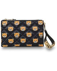Moschino Quilted Teddy Bear Clutch Bag - Lyst
