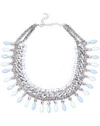 River Island Blue Teardrop Repeat Gem Stone Necklace - Lyst