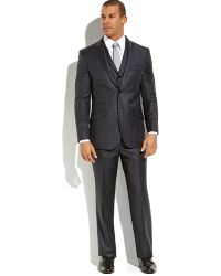 English Laundry Grey Pinstripe 3-piece Suit - Lyst