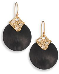 Alexis Bittar Lakana Lucite & Crystal Circle Drop Earrings - Lyst