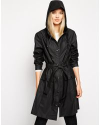 Rains Curve Jacket in Black - Lyst