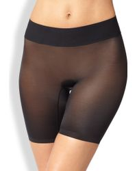 Wolford Sheer Touch Control Shorts - Lyst