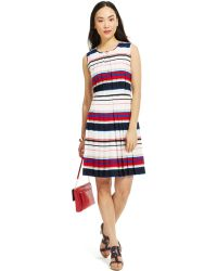 Tommy Hilfiger Pleated A-Line Dress - Lyst