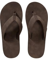 Old Navy Brown Leather Flipflops - Lyst