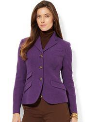 Lauren by Ralph Lauren Purple Classic Jacket - Lyst